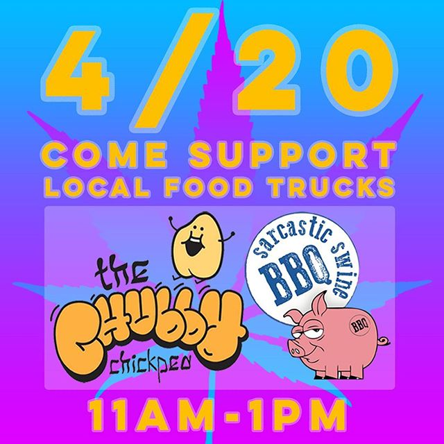 Spoiler alert! on 4/20 @thechubbychickpea & @sarcastic_swine_bbq will be popping up! See our website for details - link in our bio! 💕