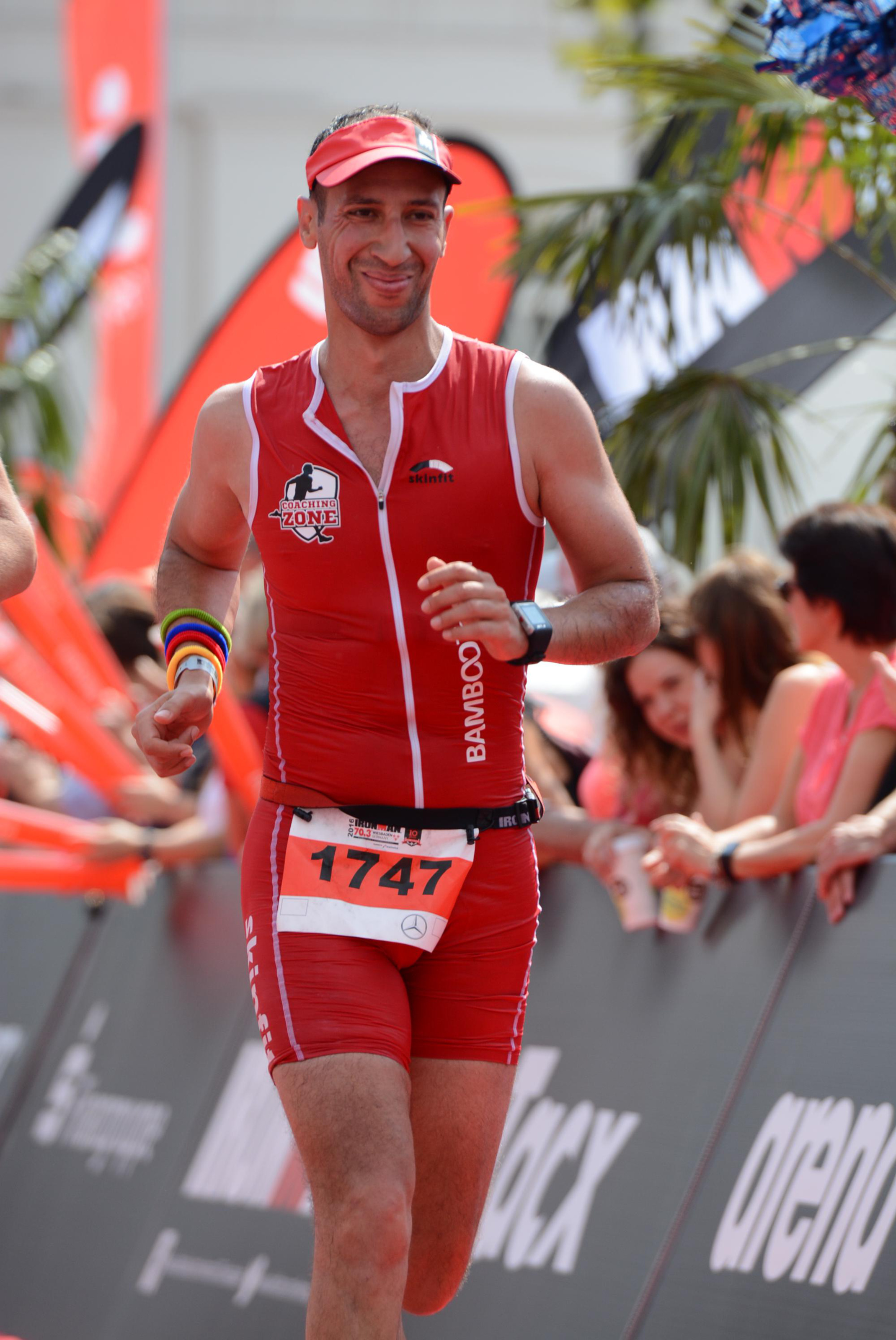 Ironman 70.3 Wiesbaden 2016 - Finish line.