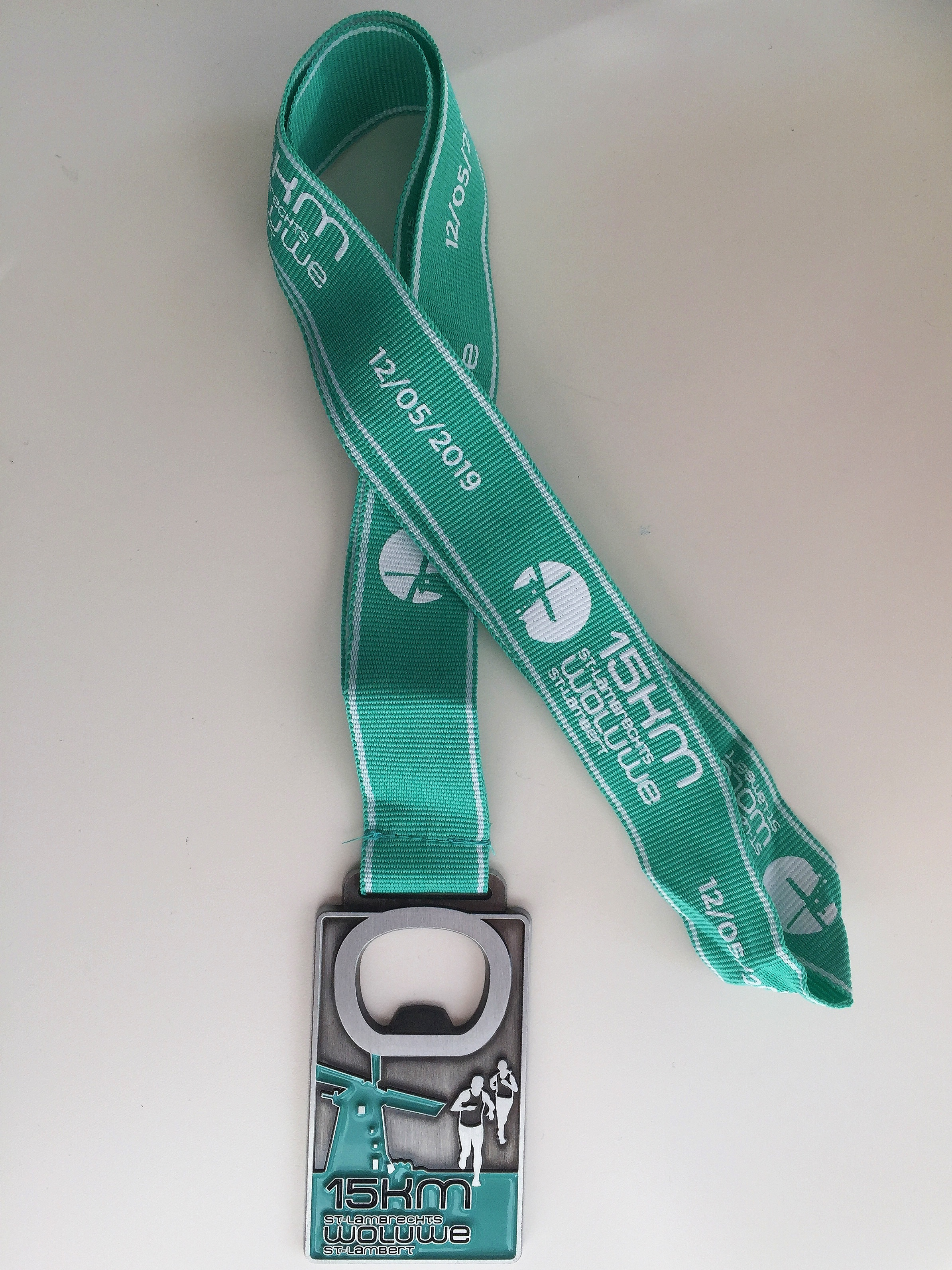 The 15km medal (and beer opener)