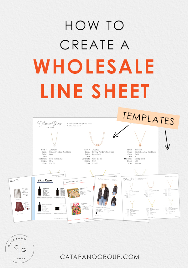 How To Make a Wholesale Line Sheet Template for Jewelry