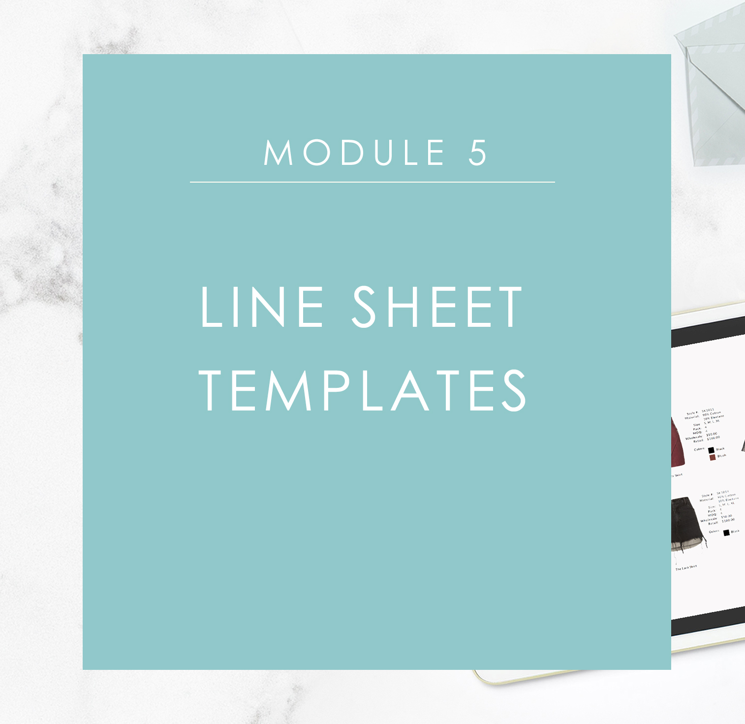 Module 5: Downloadable Line Sheet Templates