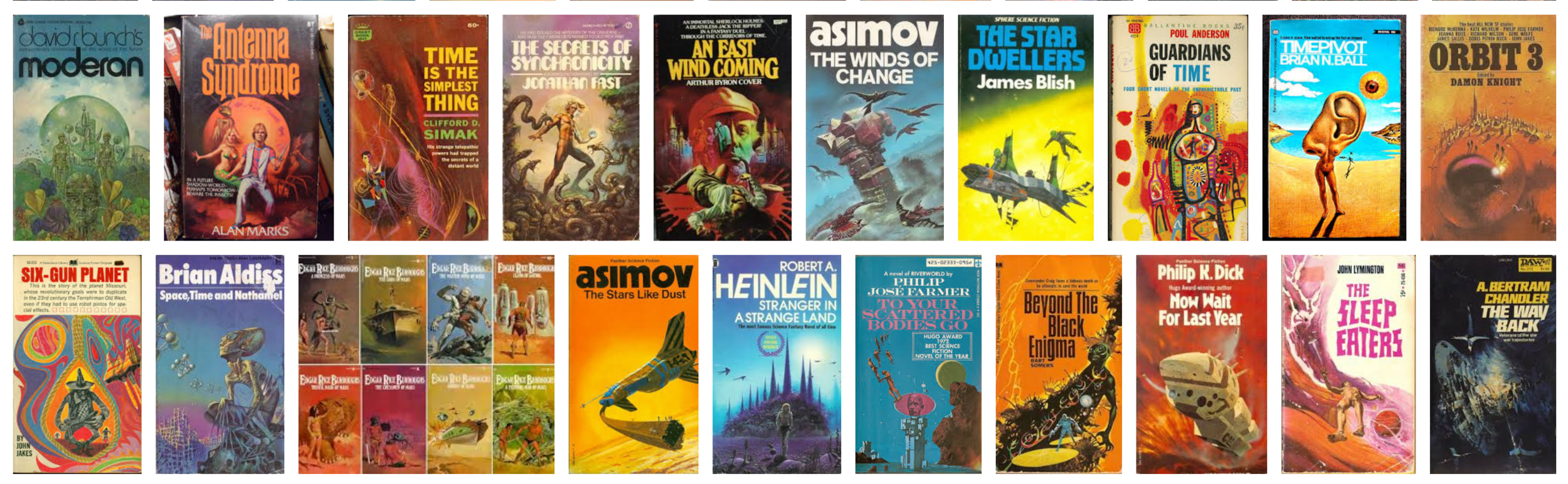 1970s Sci fi book covers all look the same