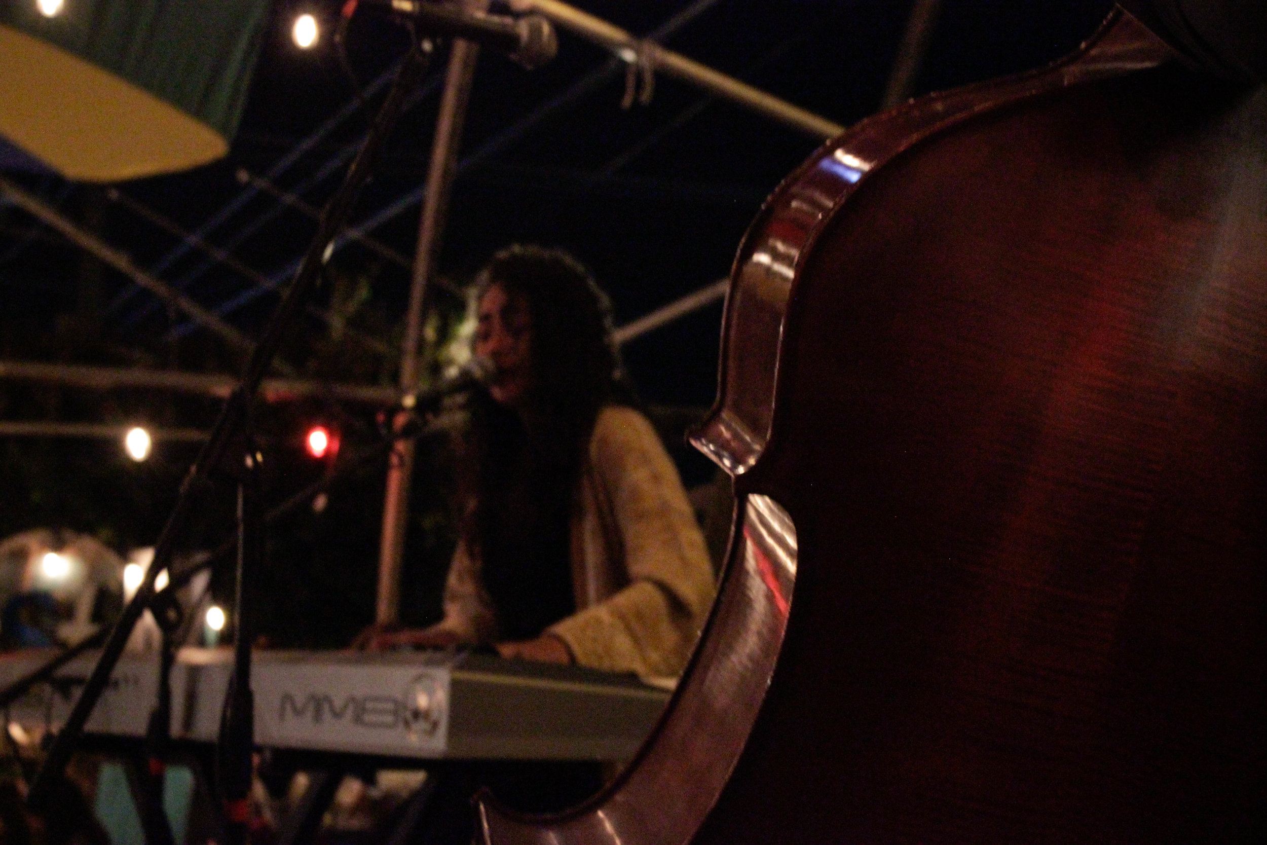 Allysa Grace serenading the audience on keys. Photo by Kassidy Curry.