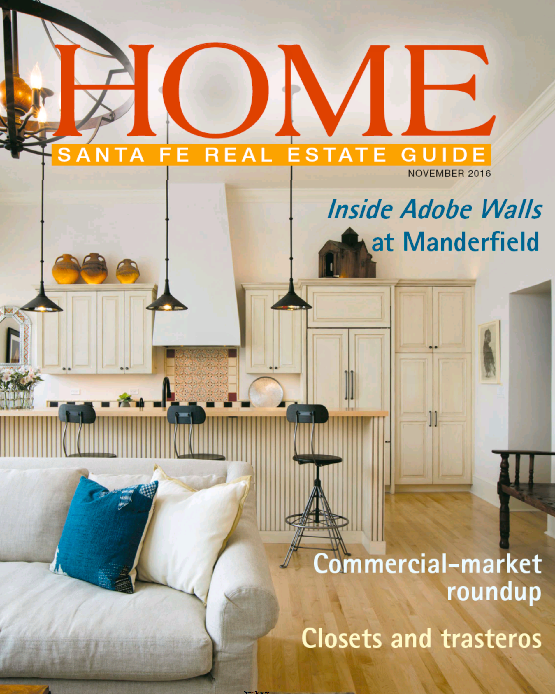 The Santa Fe New Mexican Home Magazine  features a Commercial Market Roundup, November 2016.