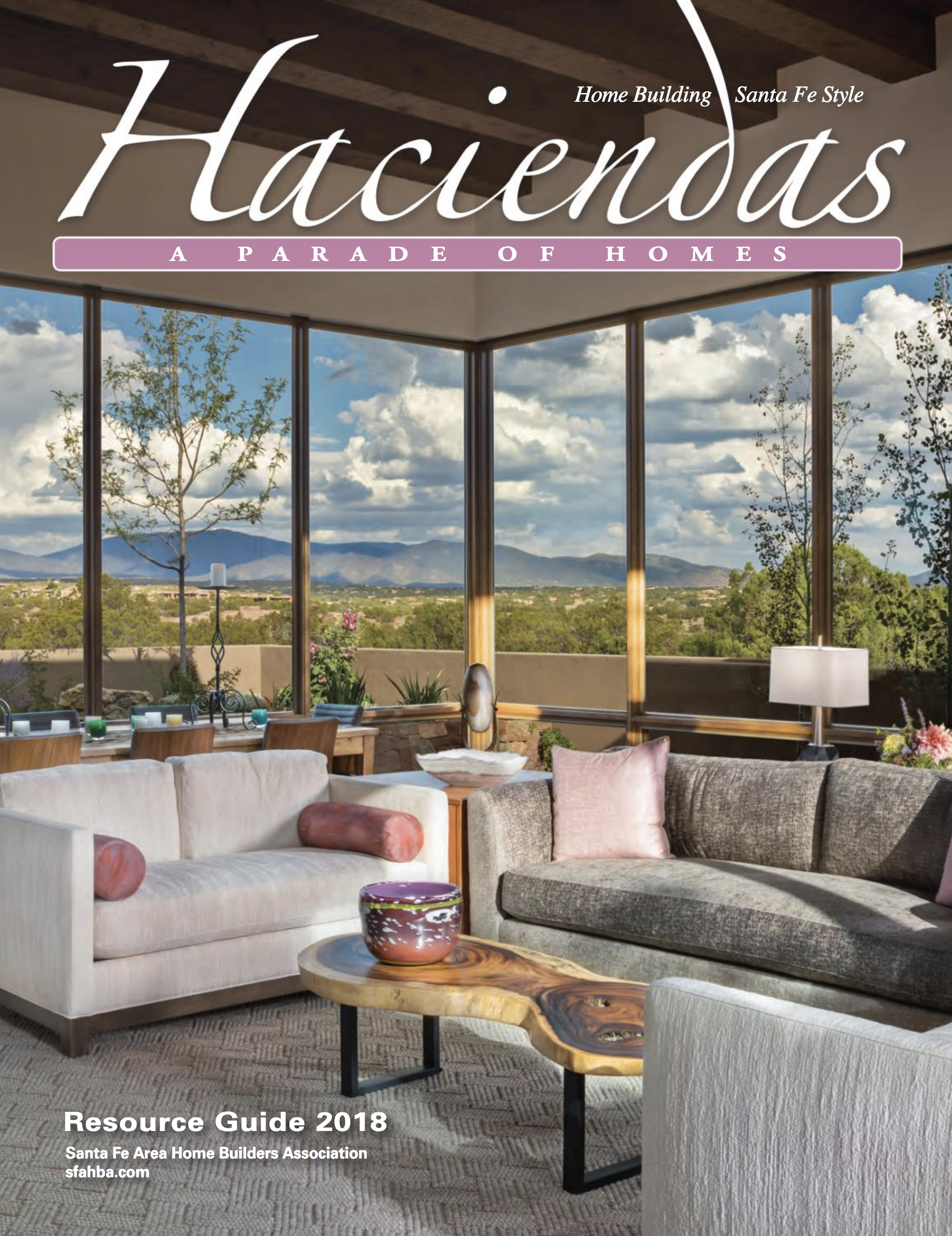 "The Haciendas, A Parade of Homes Magazine , features The Trailhead Design Source in the ""What's Hot!"" section, Summer 2018, page 72."