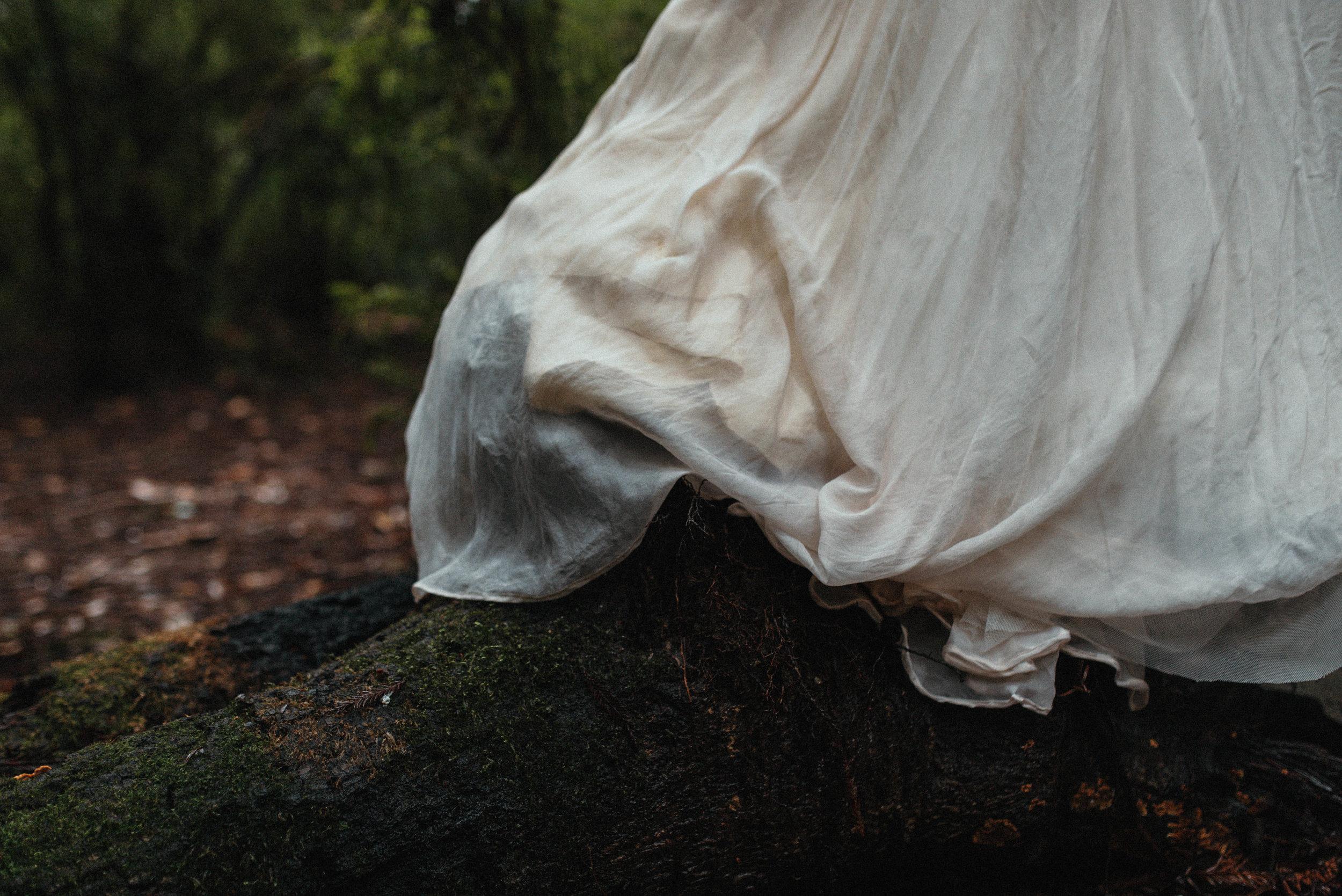 Intimiate Redwoods Elopement , Elopement Inspiration, Jessica Heron Images, Northern California Elopement, Oregon Elopement, Oregon Wedding, Elopement Ideas, homeade dress, diy dress