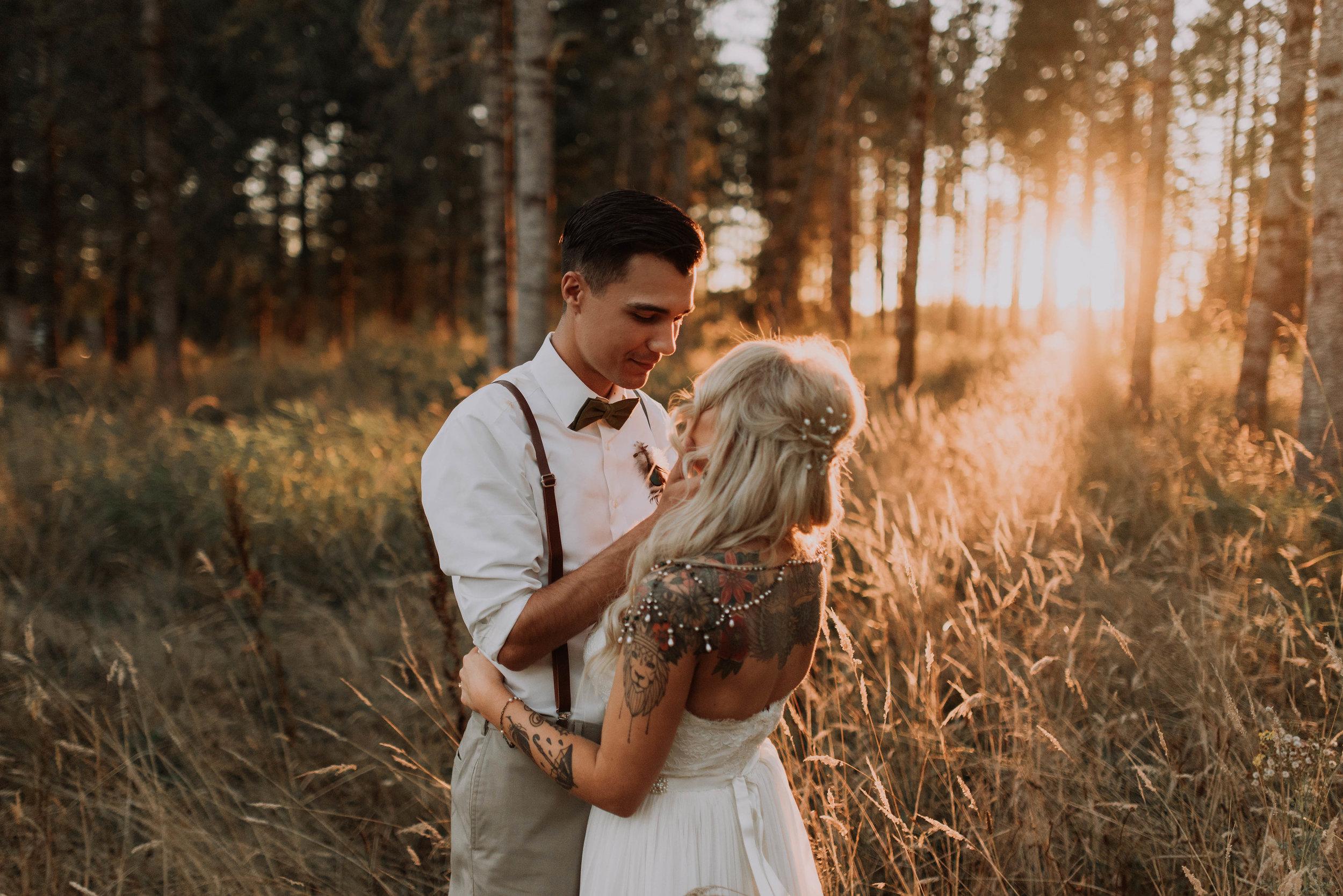 Emy and Nick Boho Forest Wedding -