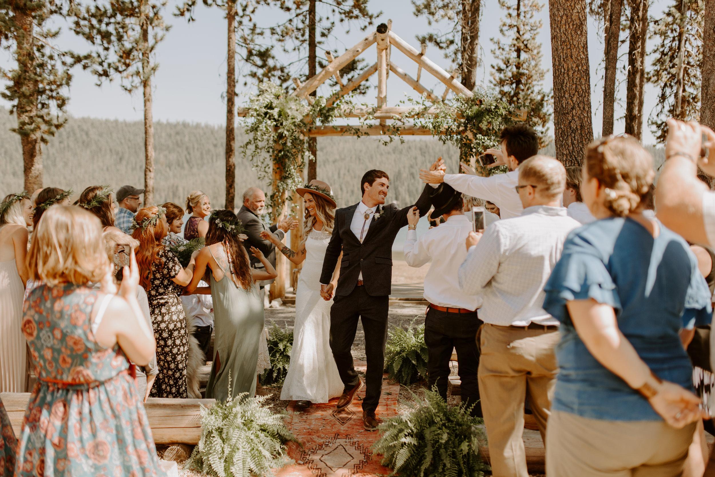 Eastern Oregon Campground Wedding -