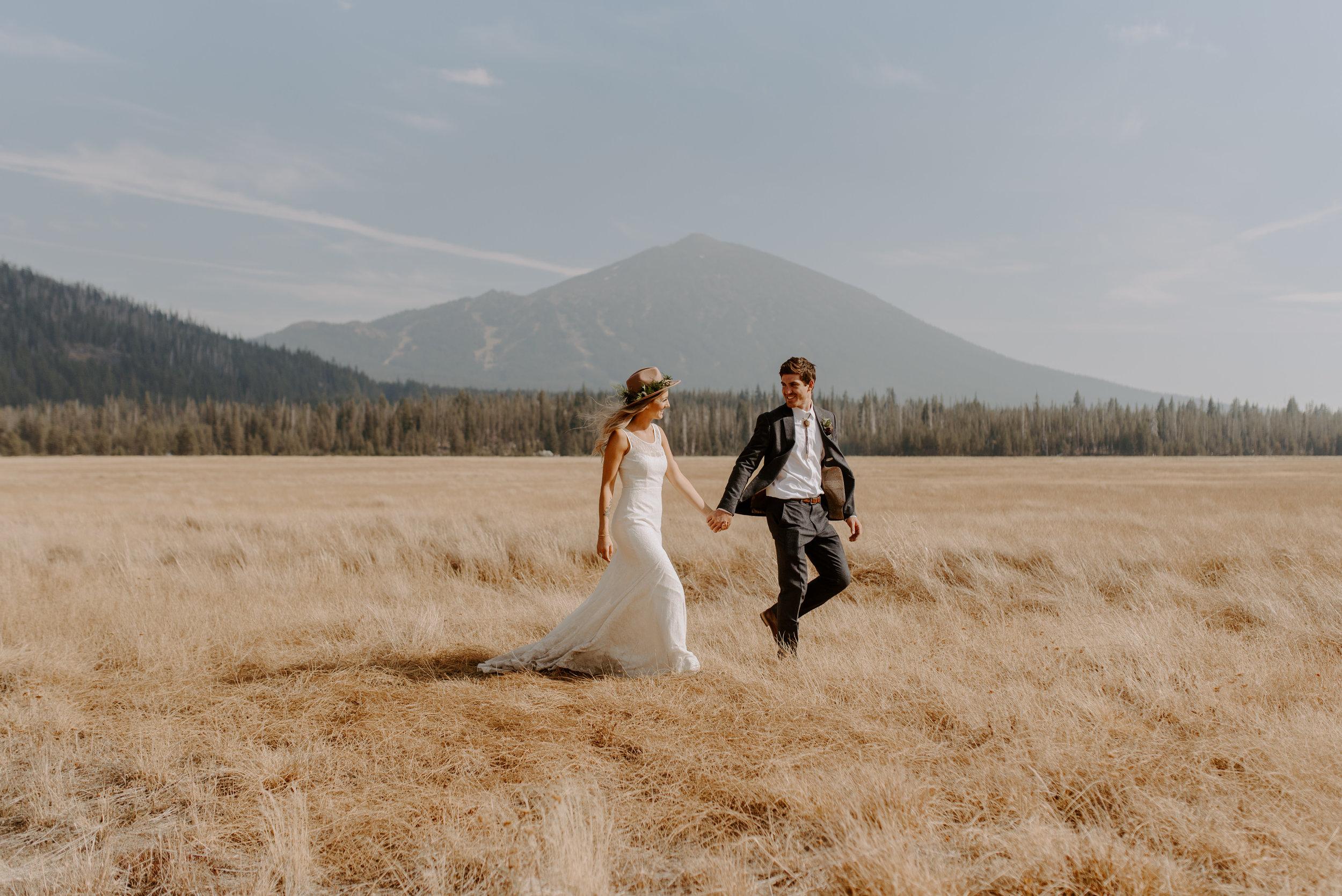 Eastern OregonCampsite Wedding -