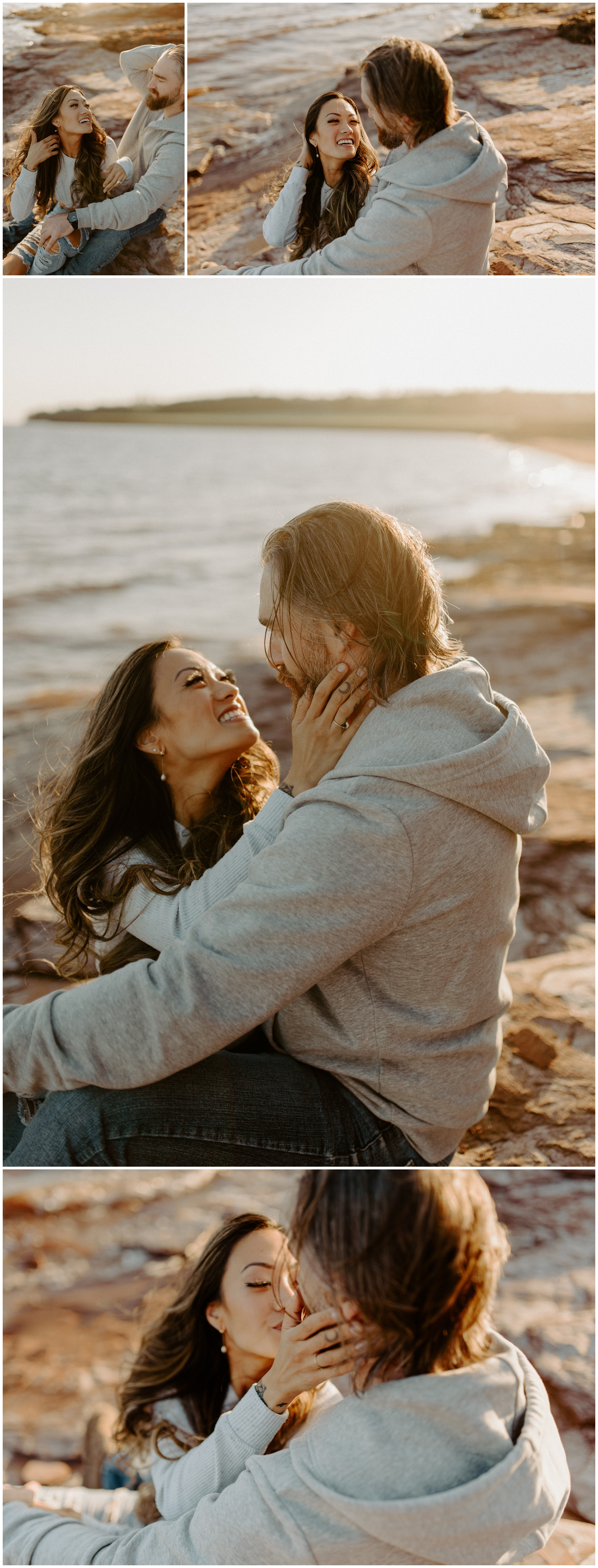 Red Sand Beach Engagements On Prince Edward Island at Sunset | Jessica Heron Images_0006.jpg
