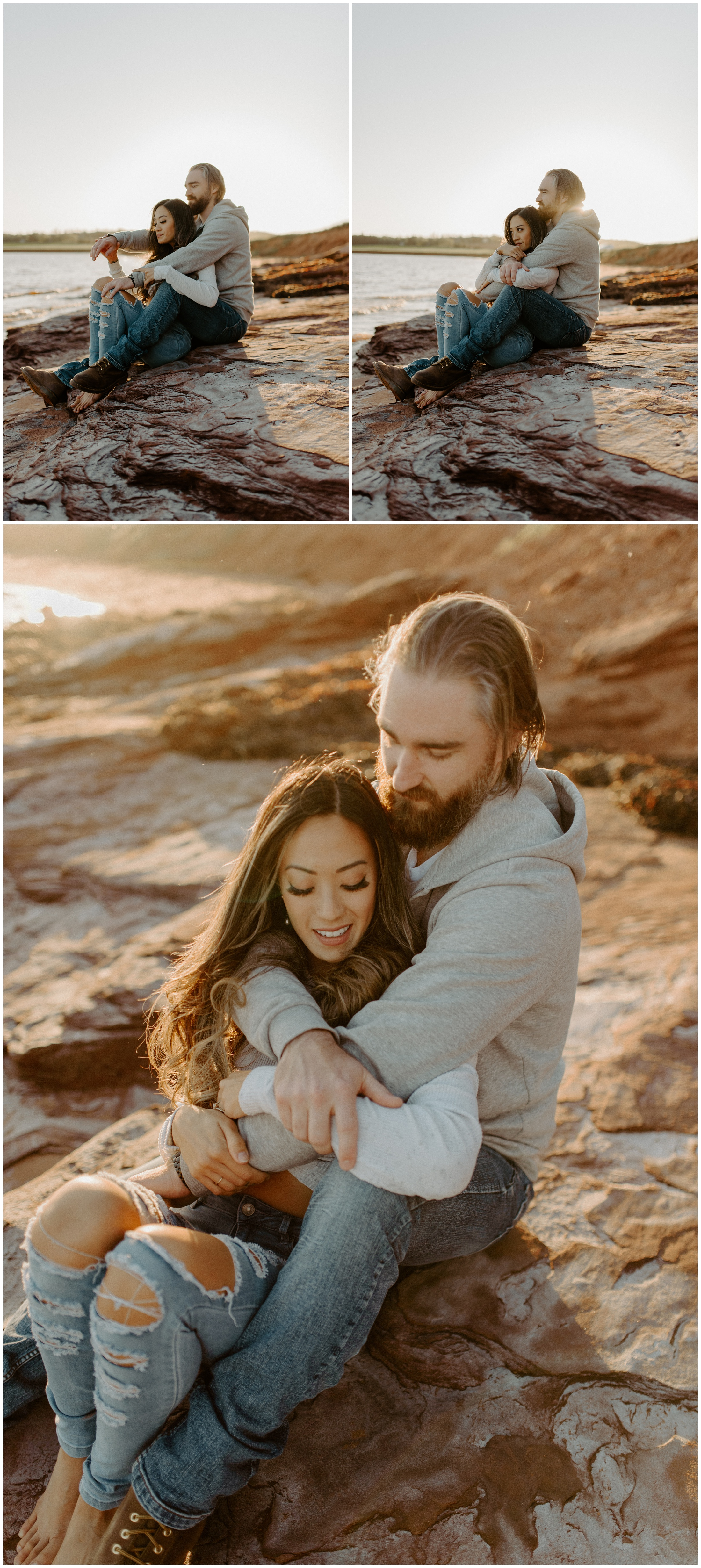 Red Sand Beach Engagements On Prince Edward Island at Sunset | Jessica Heron Images_0007.jpg