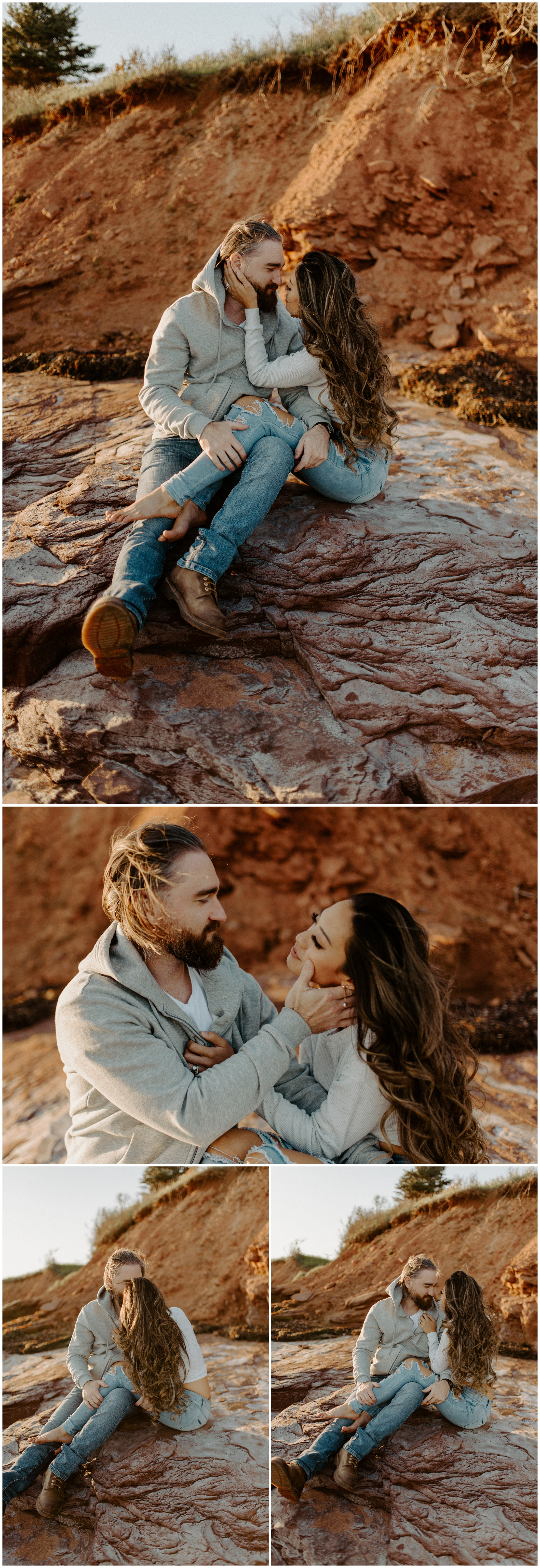 Red Sand Beach Engagements On Prince Edward Island at Sunset | Jessica Heron Images_0009.jpg