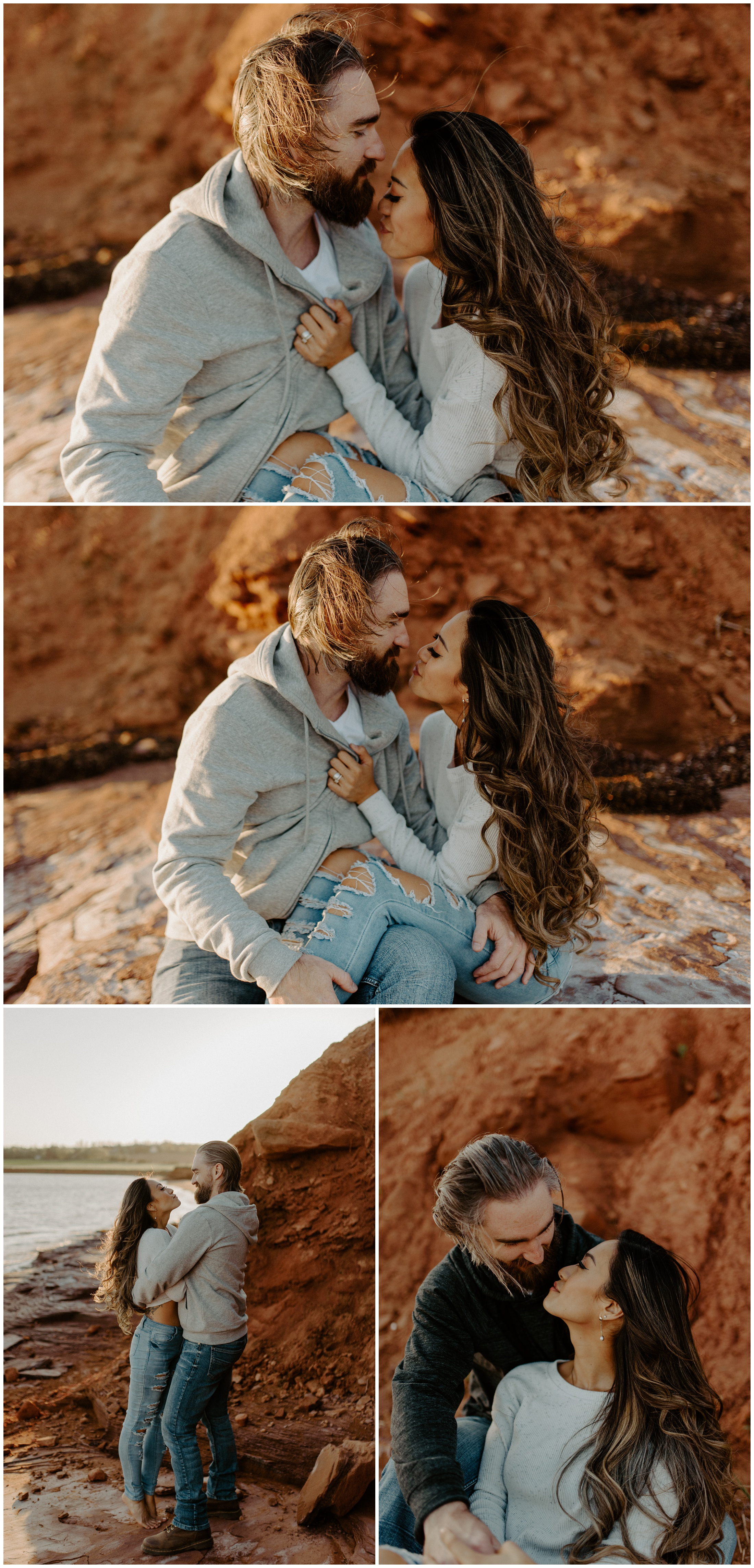 Red Sand Beach Engagements On Prince Edward Island at Sunset | Jessica Heron Images_0010.jpg