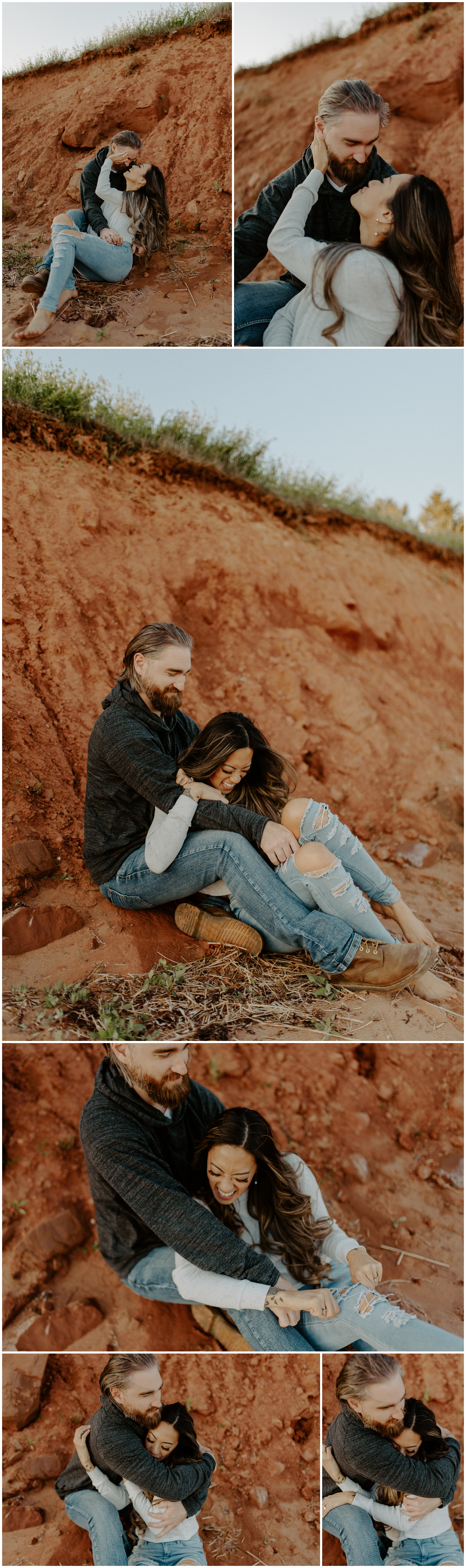 Red Sand Beach Engagements On Prince Edward Island at Sunset | Jessica Heron Images_0011.jpg