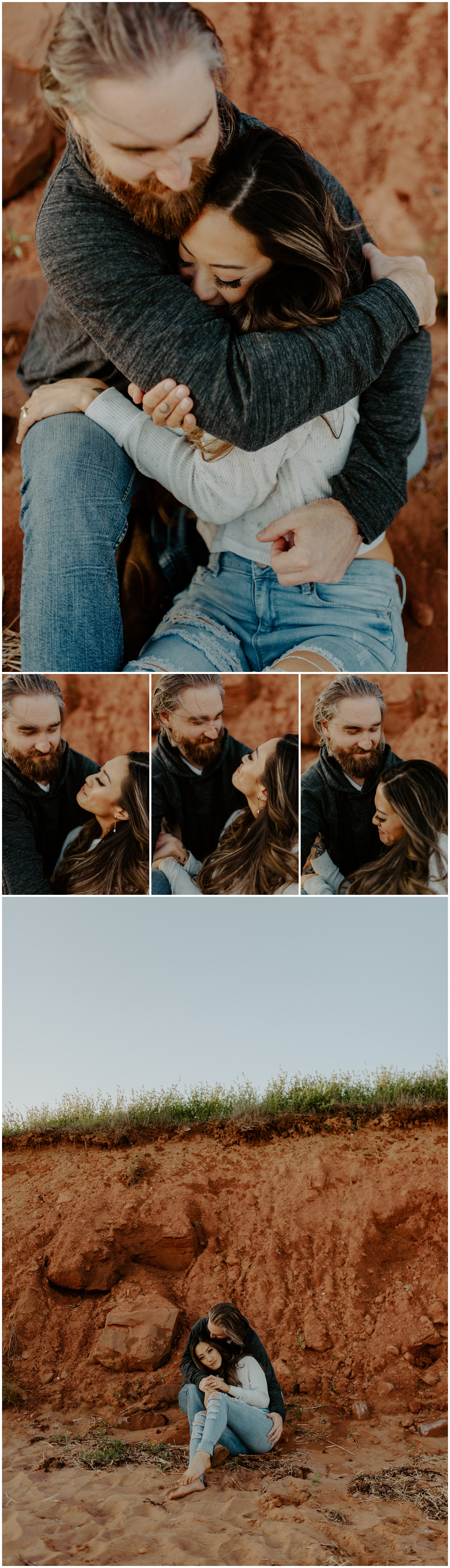 Red Sand Beach Engagements On Prince Edward Island at Sunset | Jessica Heron Images_0012.jpg