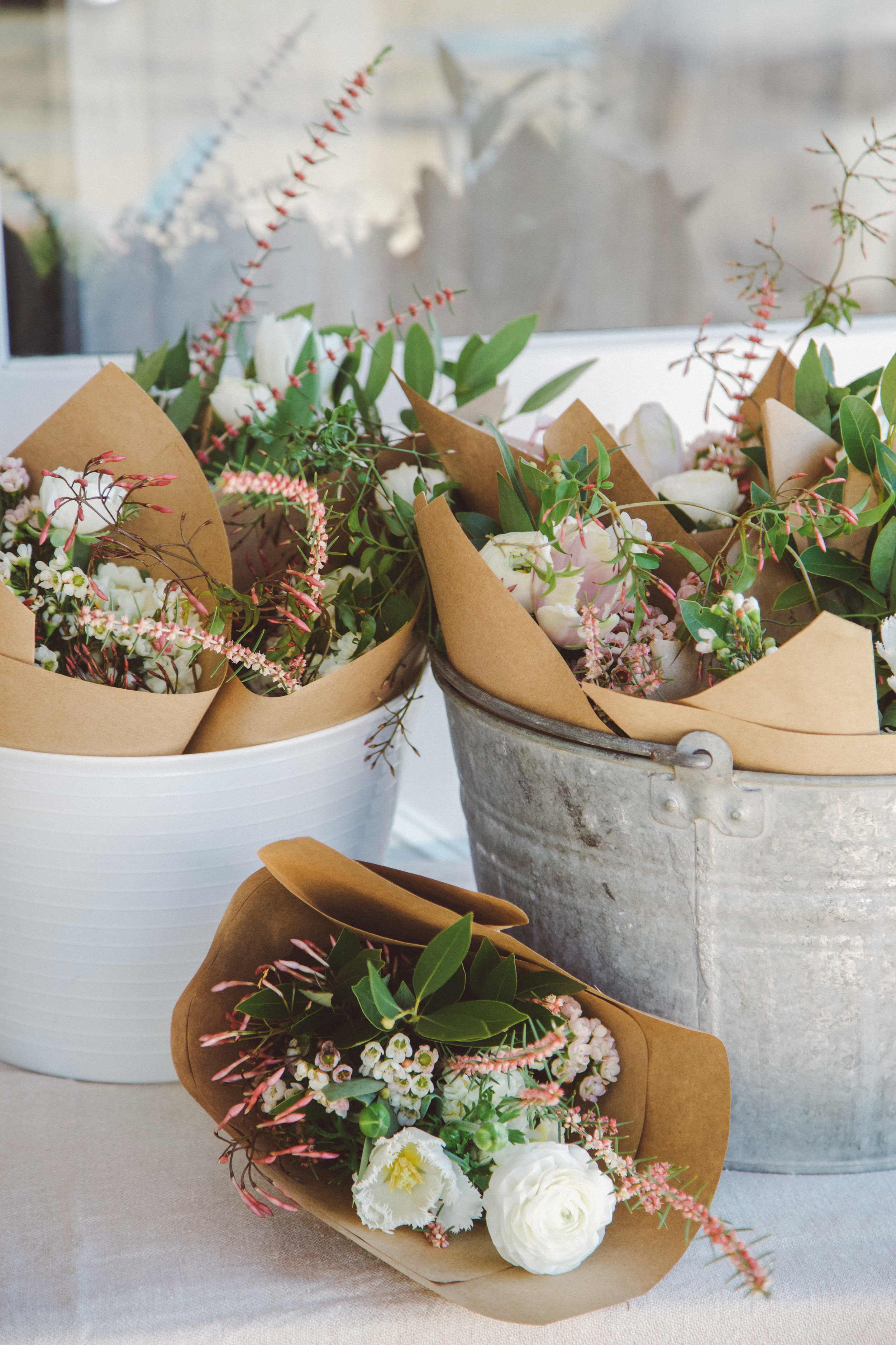Fundraiser event and floral giveaway at Jenni Kayne, Montecito