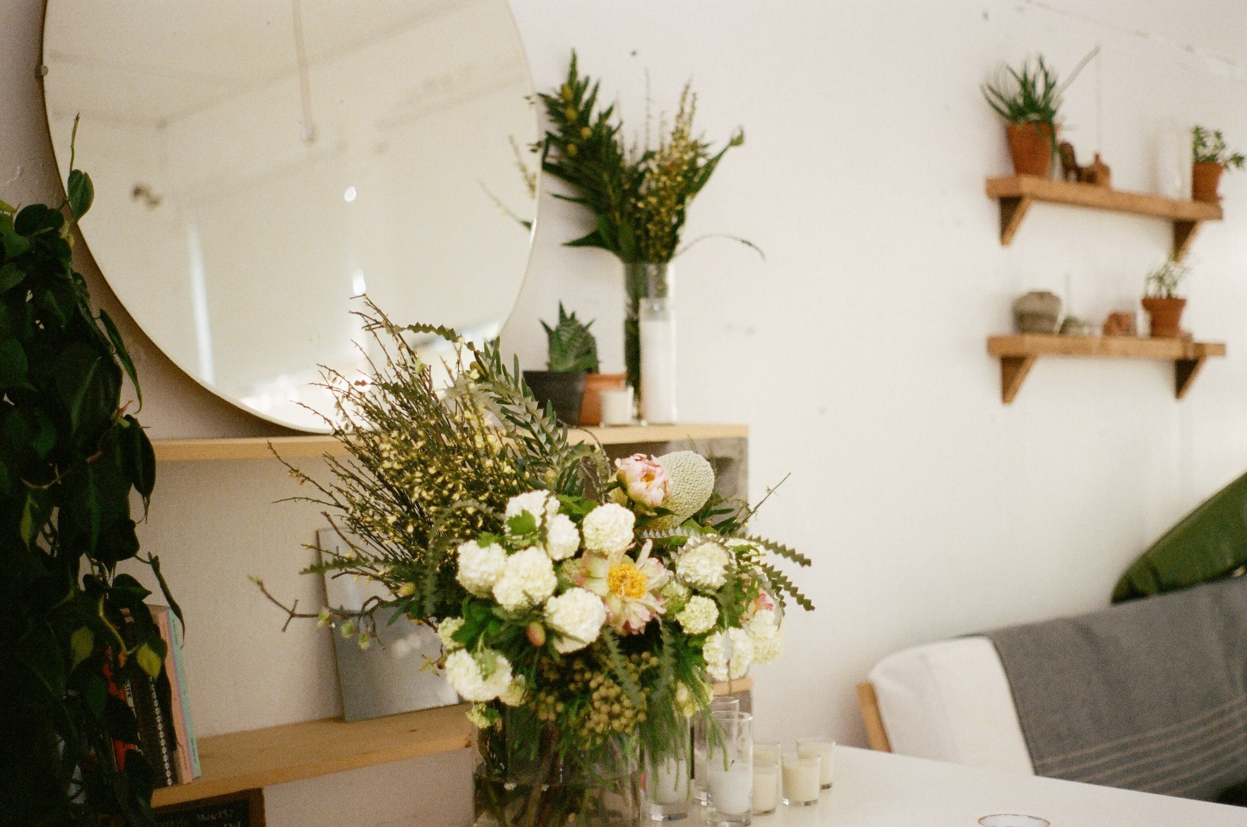 Flowers & styling for a wedding rehearsal dinner.
