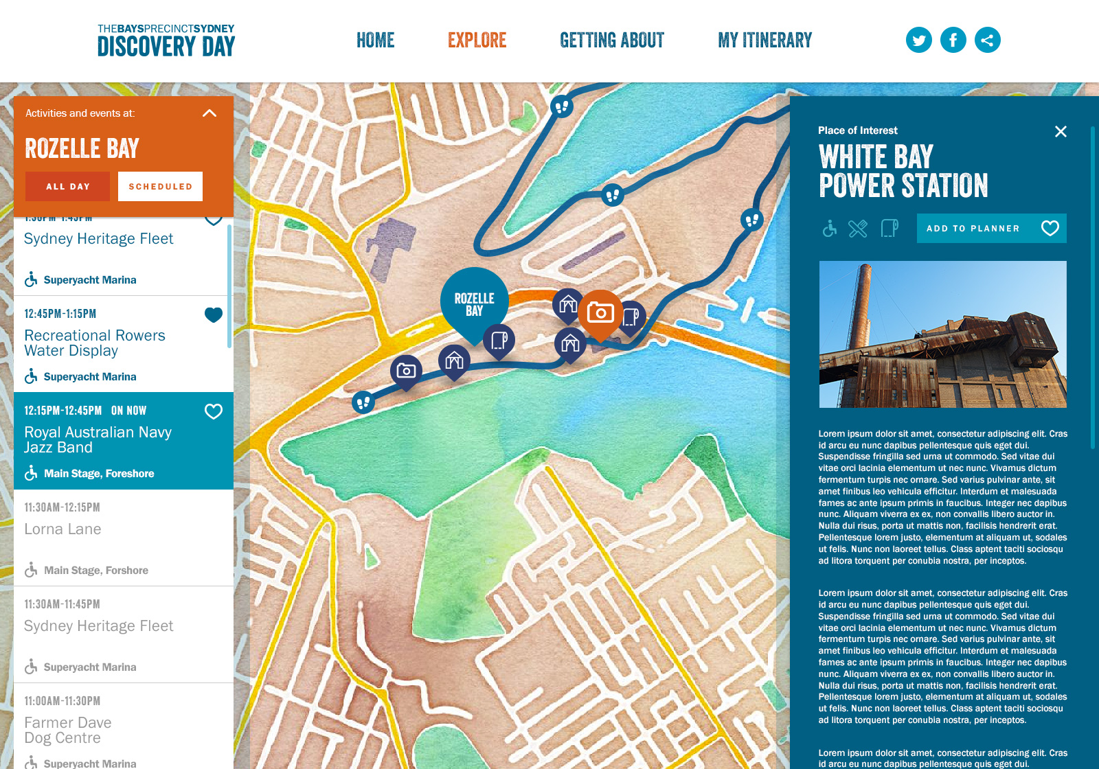 The Bays Discovery Days website provided a guide for visitors on the day.
