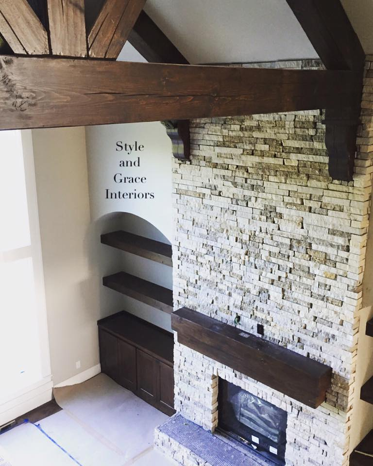 Talk about a fabulous stacked stone fireplace!!! This baby went up today almost effortlessly! The crews working to get this home tour ready are working around the clock all while putting their heart and soul into every detail.. And let me tell you, it shows!