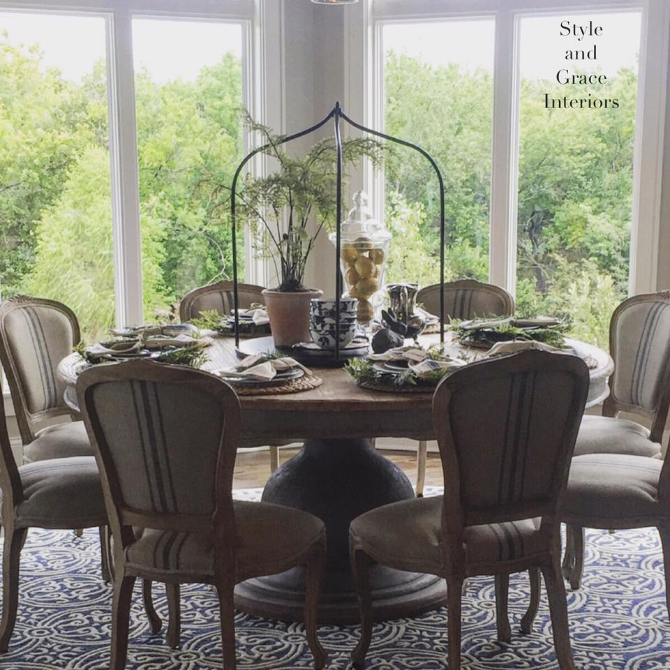 This custom sized table will forever be one of my favorite elements in my client's home for home of distinction 2016!   These sweet little chairs just pull the whole thing together! I can just picture them gathering around this table with family for years to come and that makes me happy