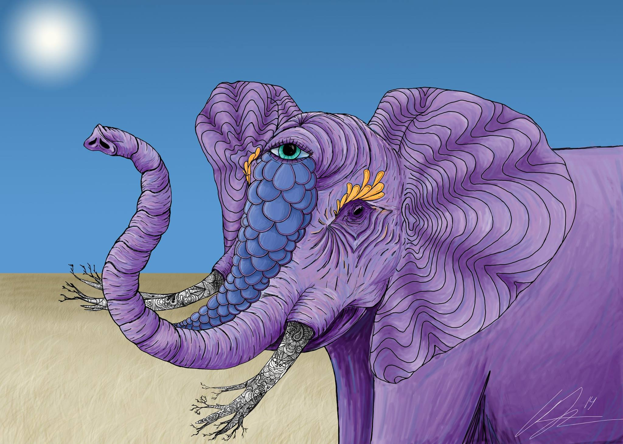 """Elephante"", 2014  Digital Painting"