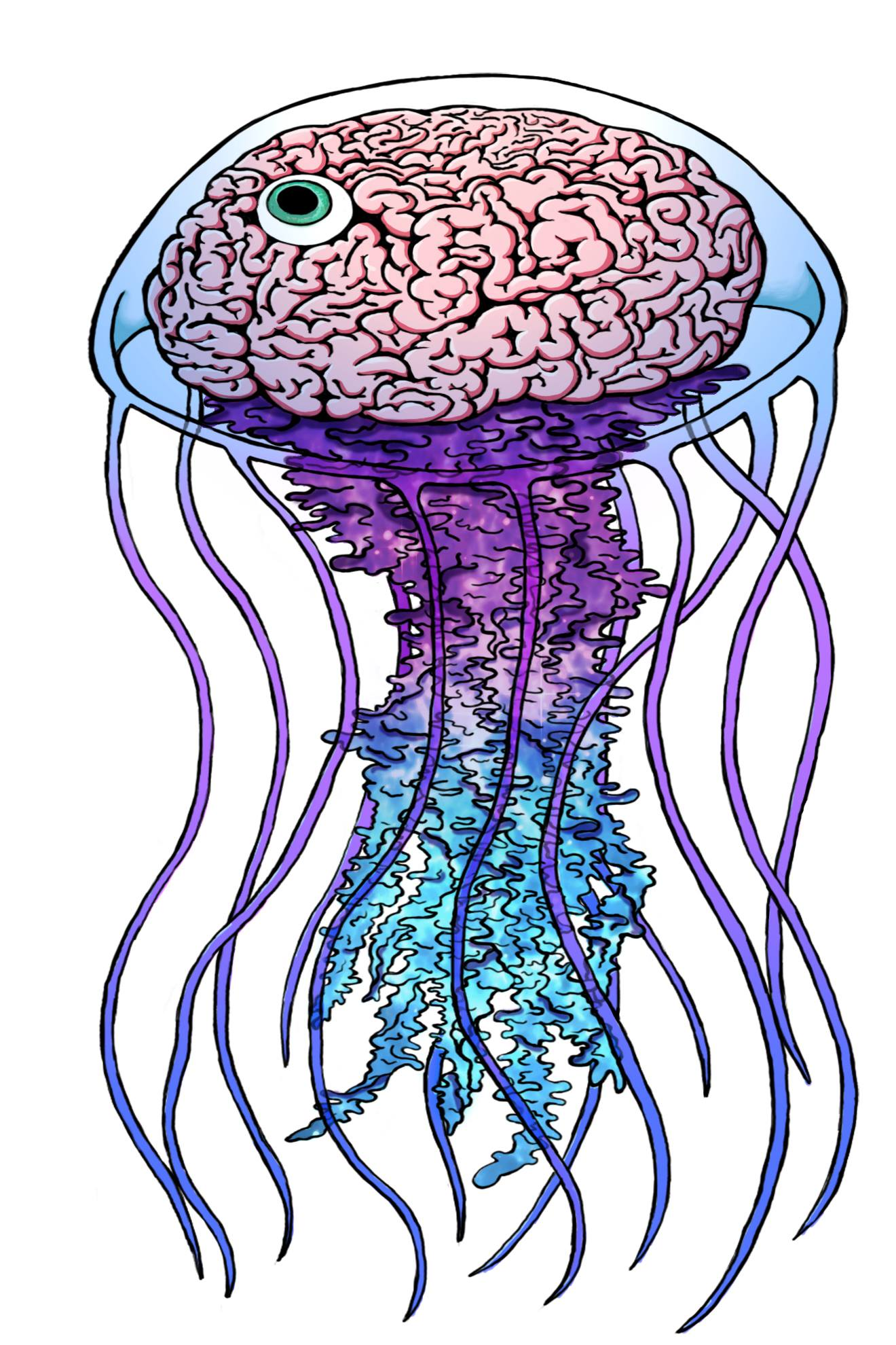 """Jelly Brain"", 2016  Digital Painting"