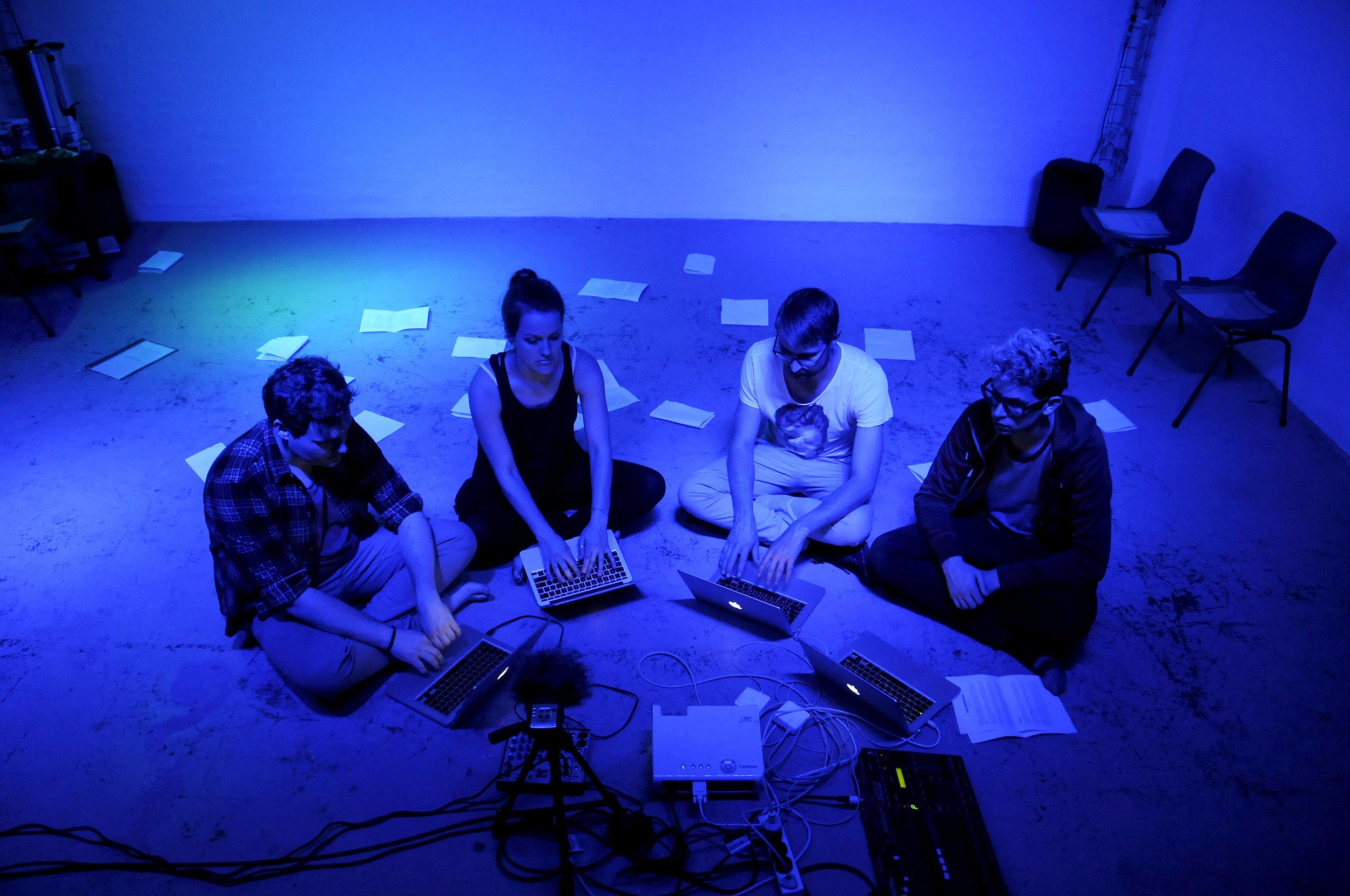 Patrick Howard, Jacqueline Marriott, Victor Kalka, and Ryan Devlin in  Götterdämmerung , 2016.