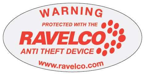 Ravelco anti theft device window sticker