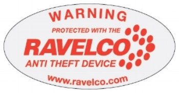 Ravelco anti theft device window sticker