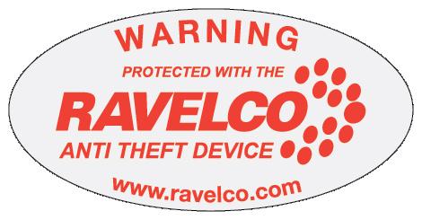 Ravelco Anti-theft Device | Window sticker decal