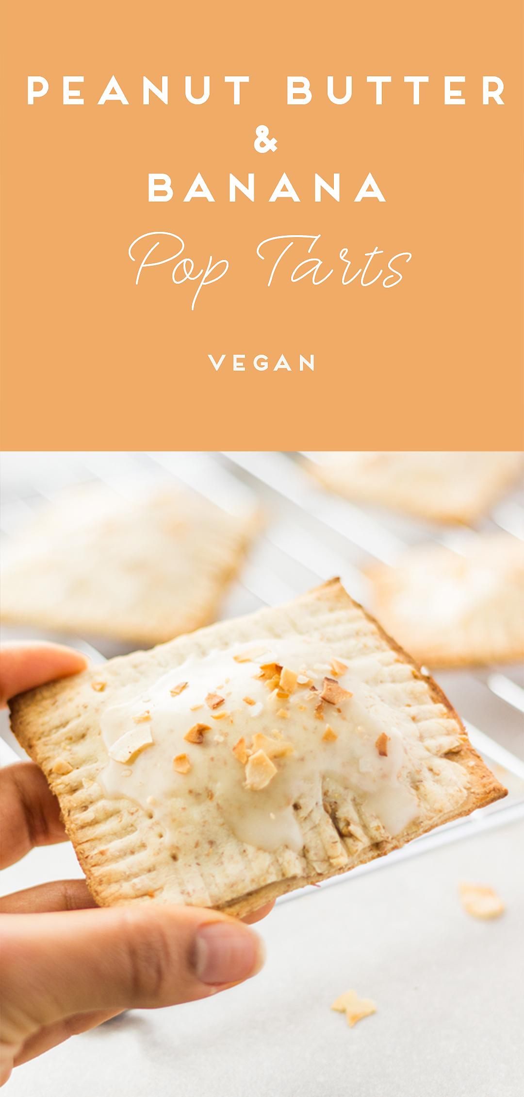 Vegan Banana and Peanut Butter Pop Tarts