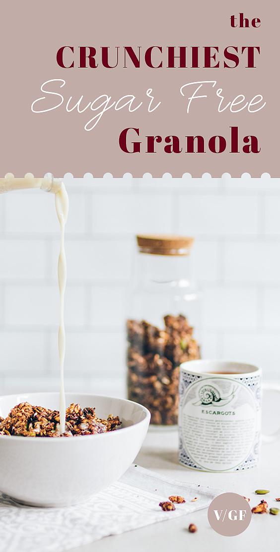 The Crunchiest Sugar Free Granola