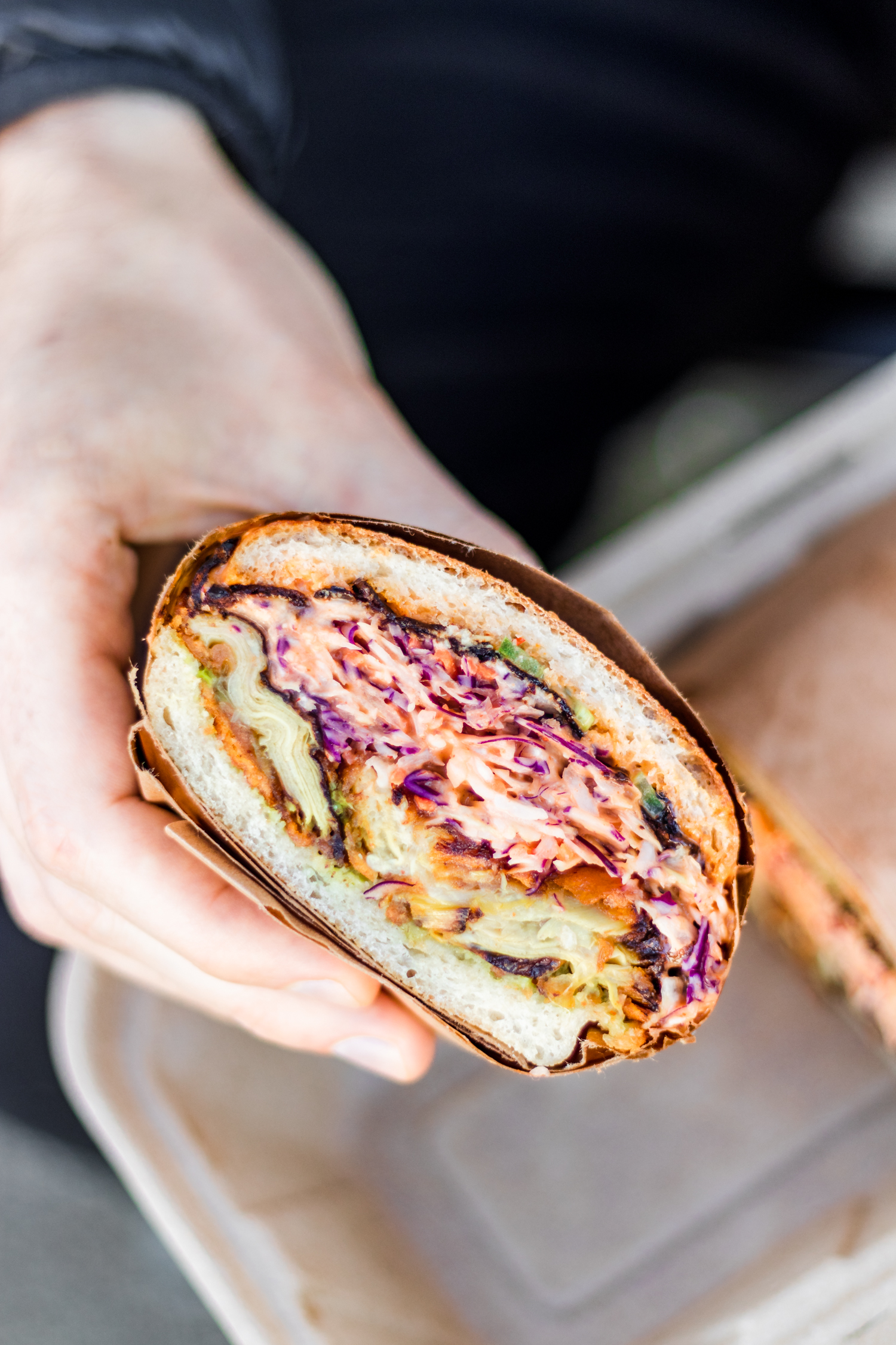 Southern Fried Artichoke Sandwich at The Arbor