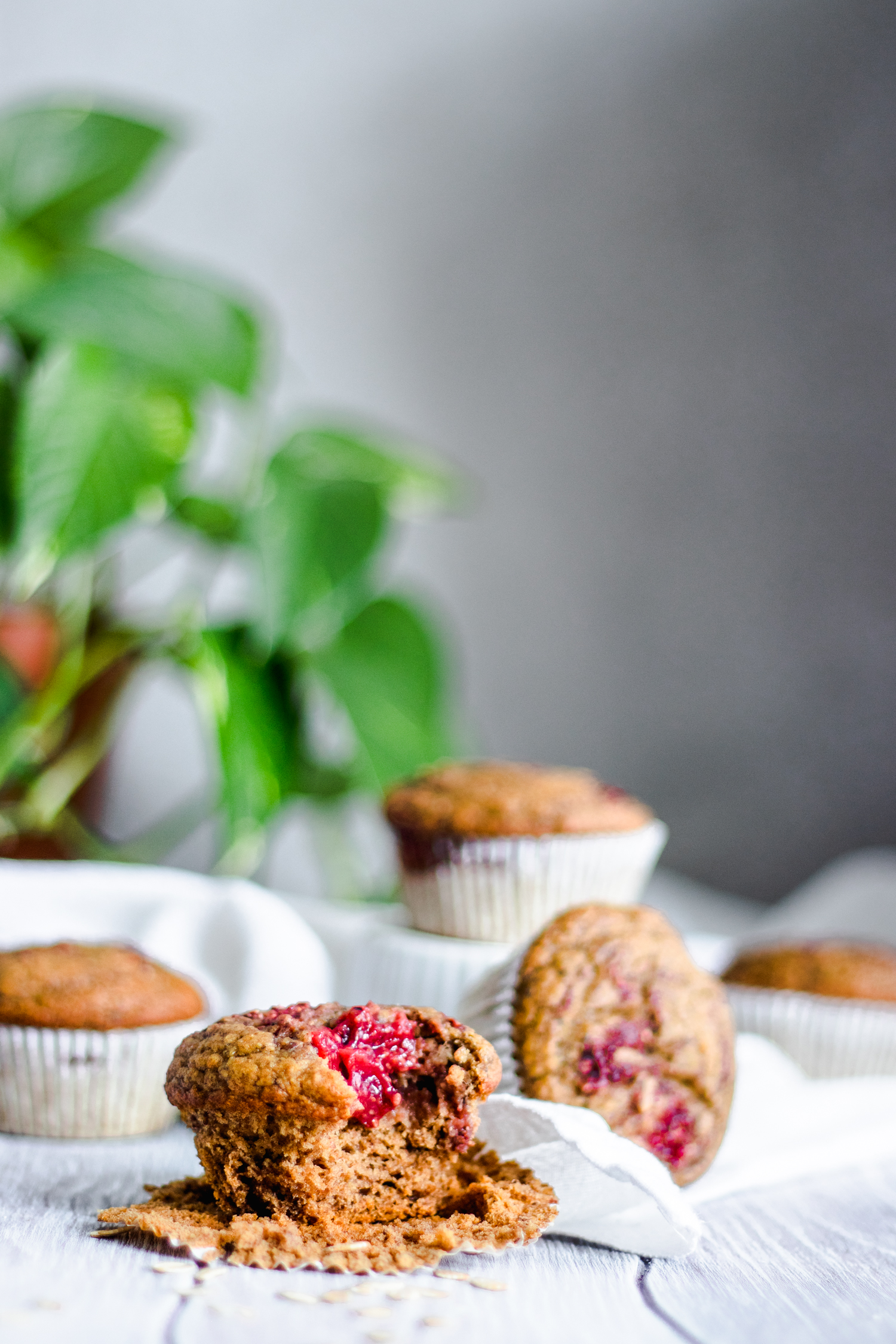 Strawberry Jam Swirl Muffins