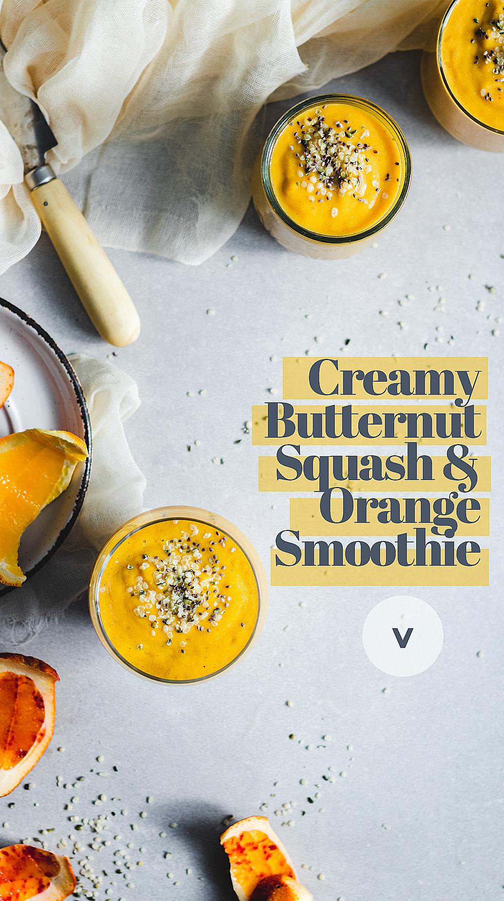 Creamy Butternut Squash and Orange Smoothie