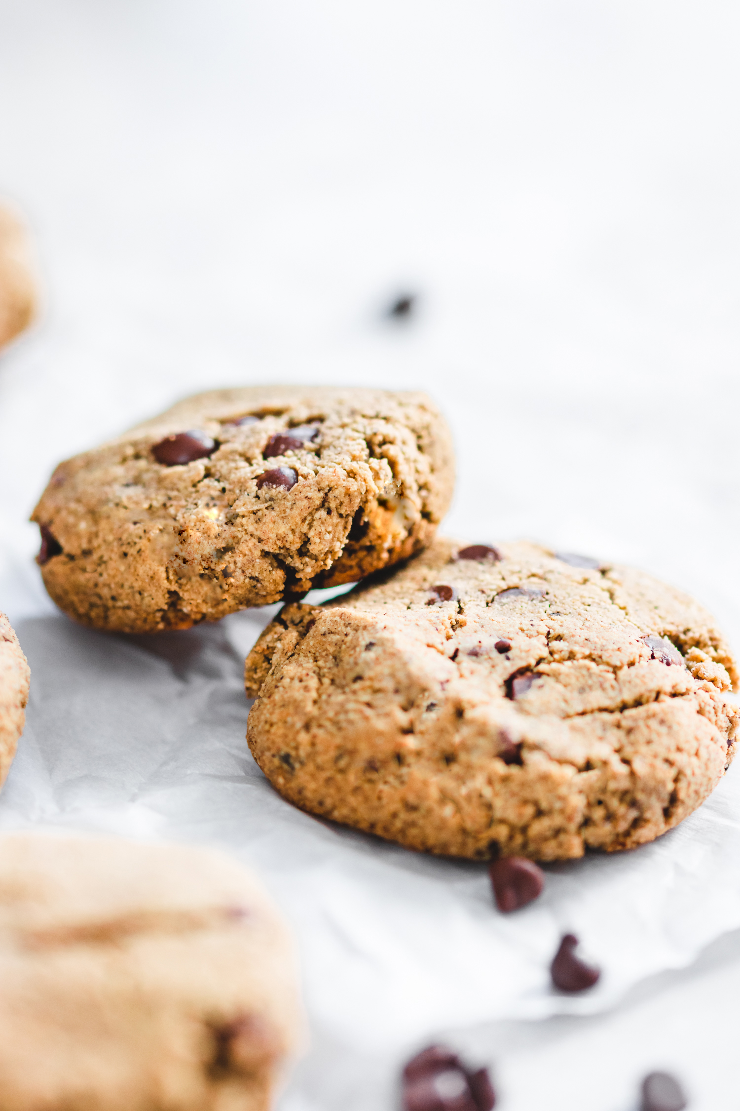 Chewy Grain Free Nut Free Chocolate Chip Cookies