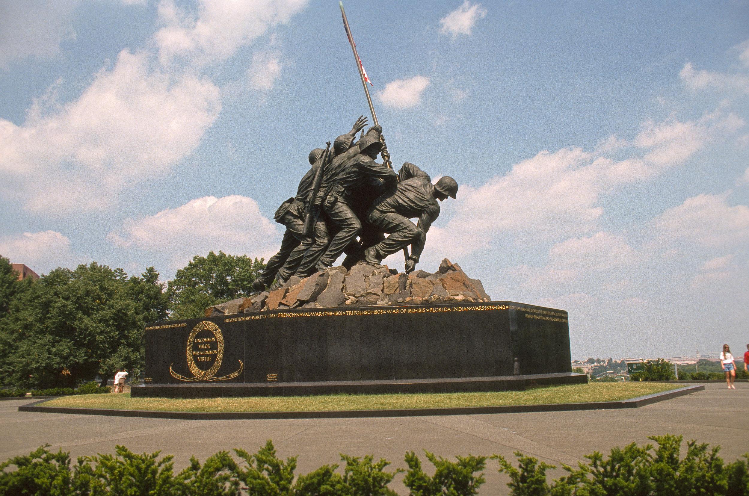 United States Marine Corps War Memorial, Nikon N8008, Kodak Ektachrome 400
