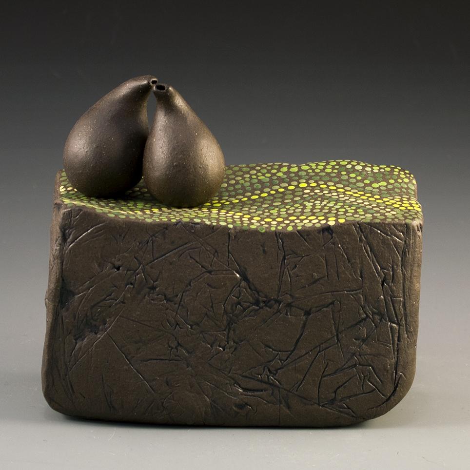 "Untitled Brown Stoneware Cone 8 oxidation 6"" x 5.5"" x 3.5"""