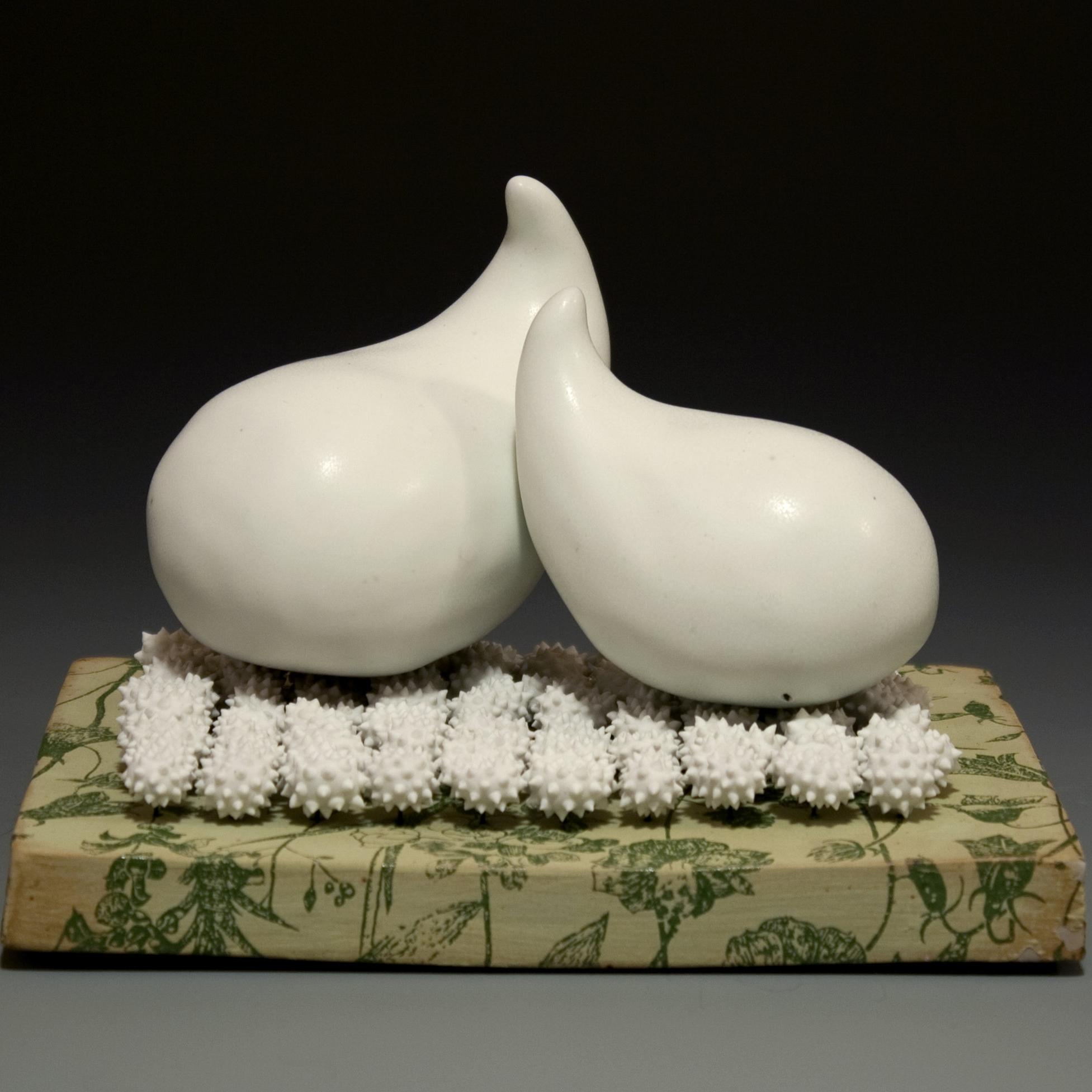 "Uncomfortable Situation  Porcelain Cone 10 reduction 6"" x 4""x 6"""