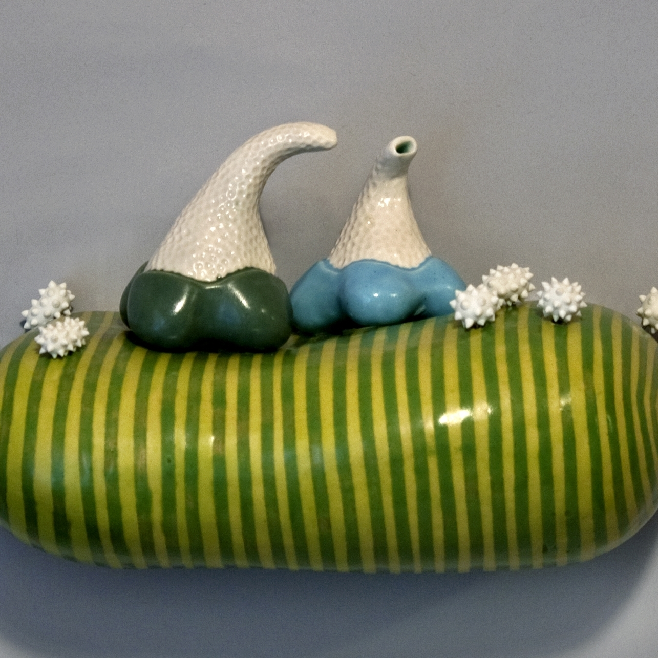"""Affable Intention   Porcelain, Wire Cone 6 oxidation 7"""" x 4.5"""" x 4"""""""