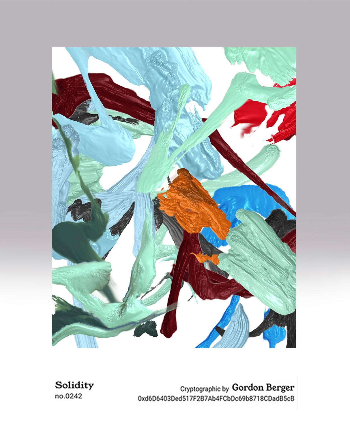 """Solidity"" ERC721 token, Blockchain Painting Series, 2019"