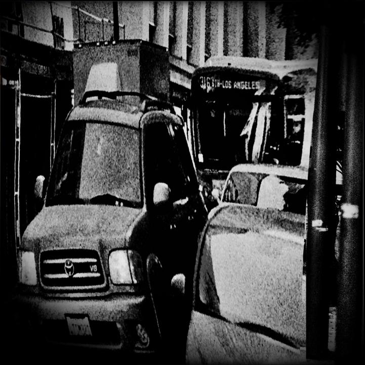 Traffic, Downtown LA, 2018