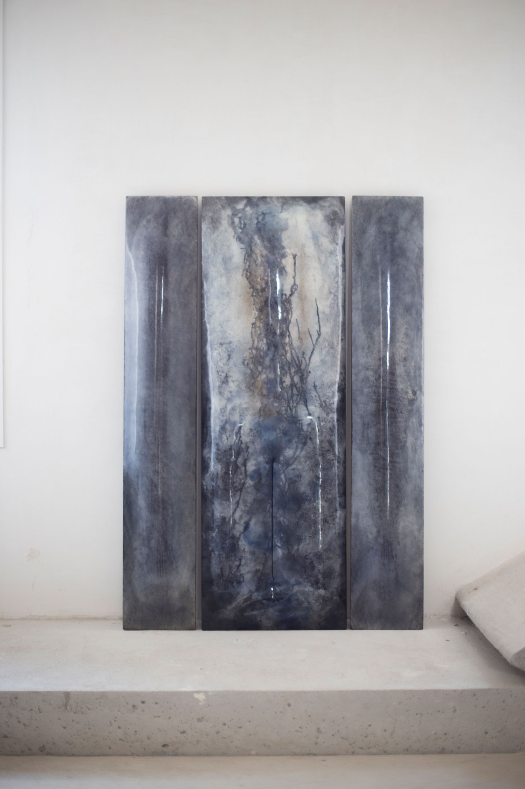 Trittico Blue, 2017