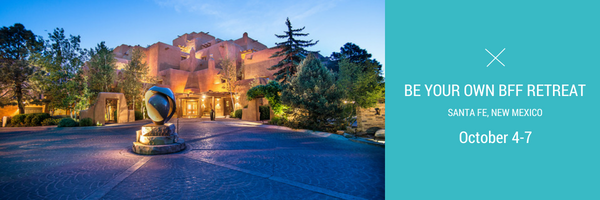"""Yay! The details for the """"Be Your Own BFF"""" retreat in Santa Fe, at the Inn and Spa at Loretto are FINALLY nailed down! And the best news of all is registration is now OPEN!     If you are overworked, overwhelmed, lack energy and time, and you override your feelings and inner-knowing...this retreat is custom made for you!       Space is limited at the """"Be Your Own BFF"""" retreat to a small, intimate, group of 20 participants. So there's not much time to wait.    The     first 5 to register will receive a nice, early bird bonus: Two, free, 90-minute coaching sessions with me, a   $290 value  .   You can use these, one-on-one, coaching sessions before or after the retreat, for up to 4 months after the event.     Everyone who registers prior to August 19th, will receive  a  early bird bonus:   One, free, 90-minute coaching sessions with me, a   $145 value  .       You can use these coaching sessions yourself at any time, up to 4 months after the event. Or you can gift one of your bonus sessions to a pal, partner, or family member.     This offer is only good until   August 19th, Sunday by midnight!   So don't wait. Register    HERE   .     If you're interested but have questions, reservations or any concerns about the retreat, email me at lauren@life-spotter.com and we can set up a 15-20 minute call to help you move through what is holding you back from """"Becoming Your Own BFF.""""    Here's to becoming your own BFF,    Lauren"""