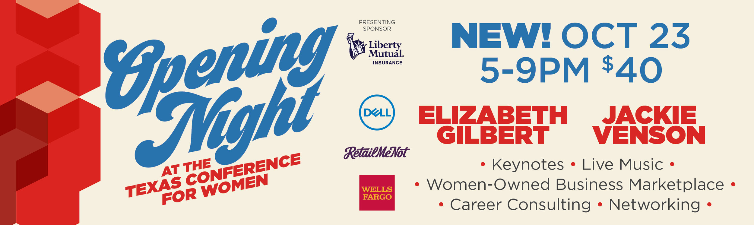 Texas Conference for Women Opening Night