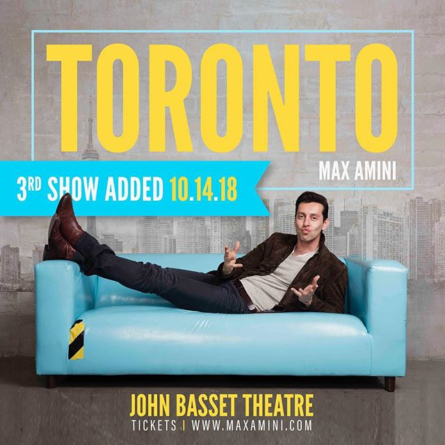 TORONTO THIS WEEKEND 🔥 See ya!