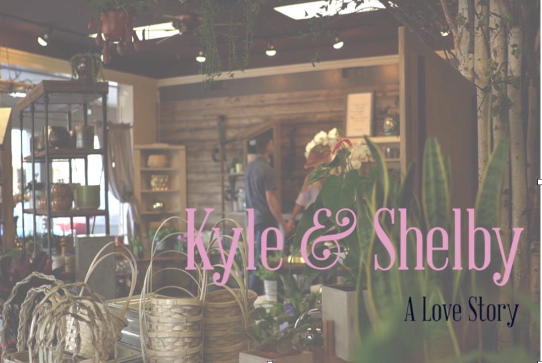 couple browsing a floral shop