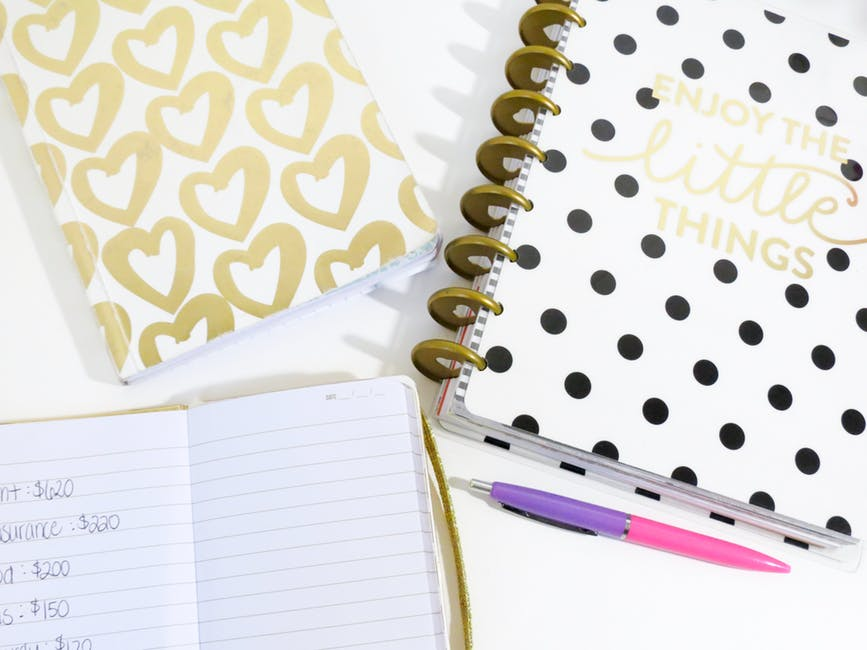cute notebooks with enjoy the little things