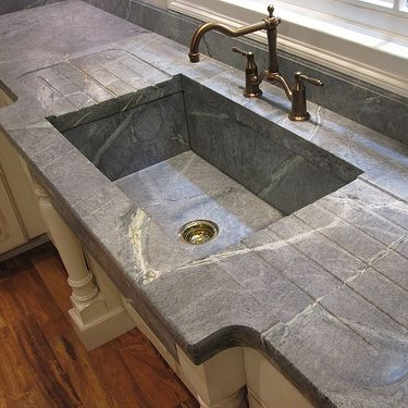Soapstone sinks are also available.