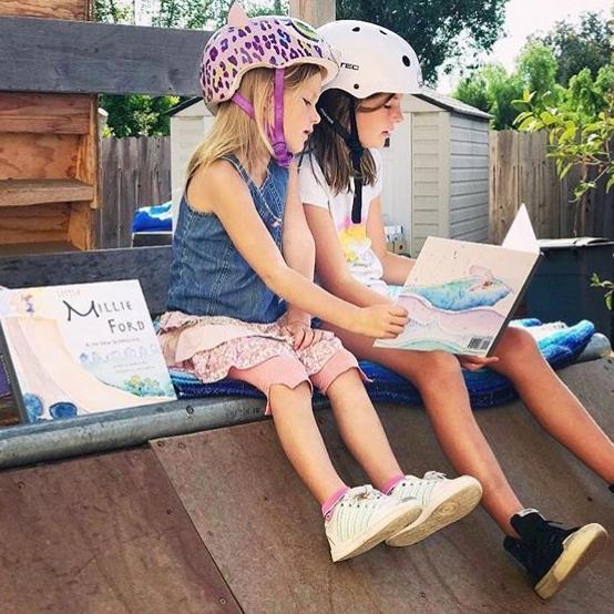 Skater-Girl-Kids-Book-Millie-Ford-and-her-new-skateboard